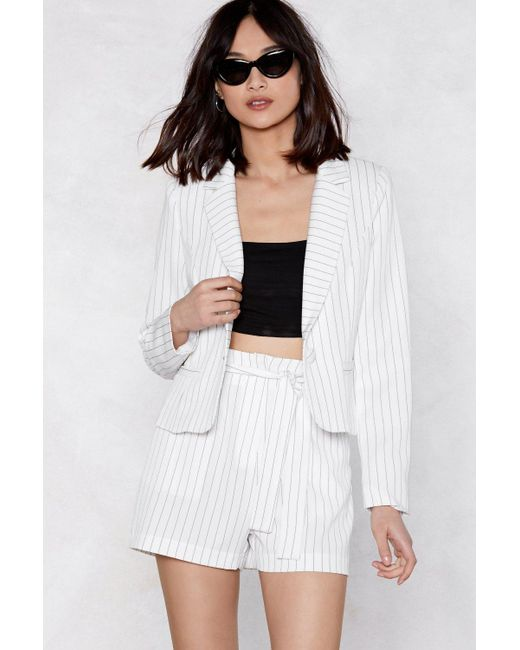 Nasty Gal - White Fall In Line Blazer - Lyst