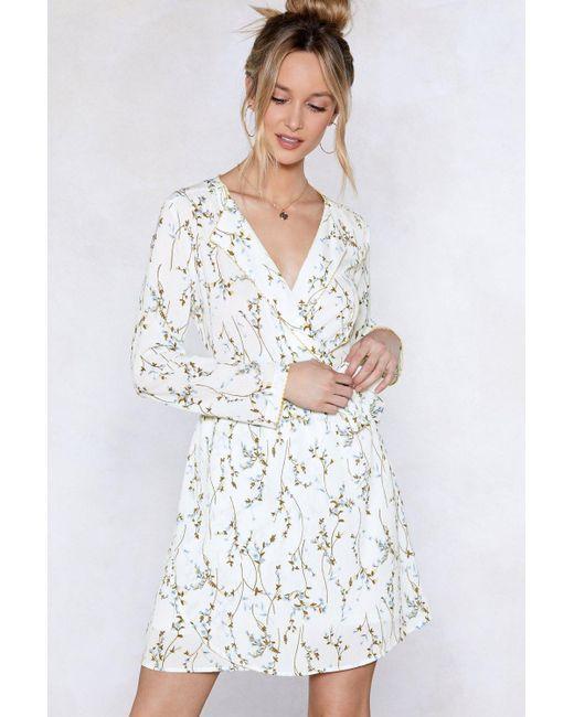 Nasty Gal - Multicolor Spring Back Floral Dress - Lyst