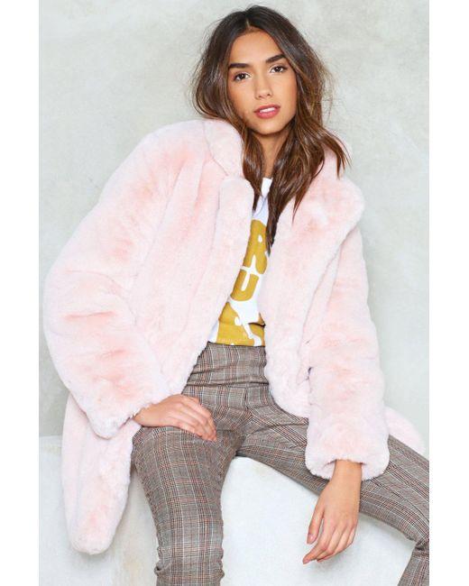 """Nasty Gal Multicolor """"surfin' Bird Faux Fur Coat"""""""