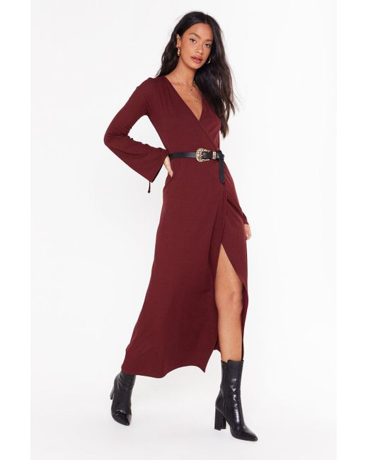 "Nasty Gal Red ""time To Wrap Things Up Maxi Dress"""