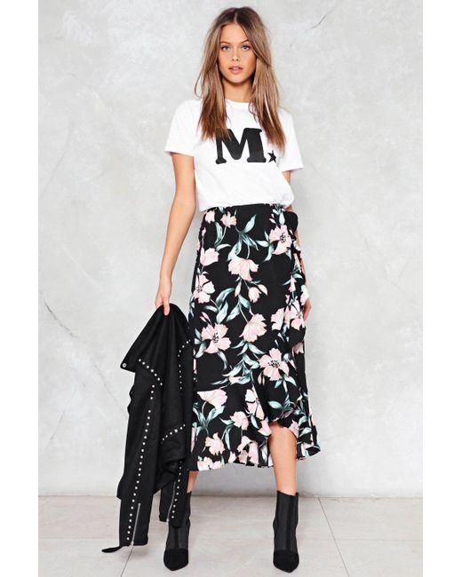 Nasty Gal | Black Petals Ruffle Skirt Petals Ruffle Skirt | Lyst