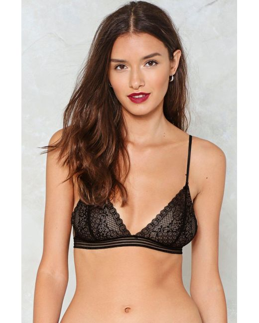 Nasty Gal   Black Open Your Heart Lace Bralette Open Your Heart Lace Bralette   Lyst