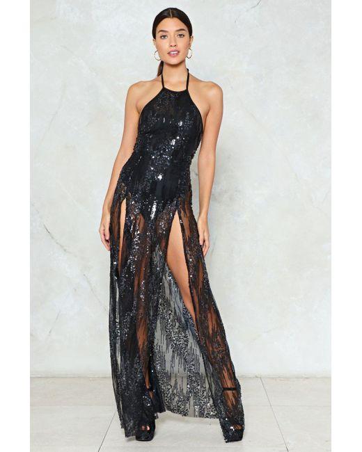 Nasty Gal   Multicolor Sequin Maxi Dress Sequin Maxi Dress   Lyst