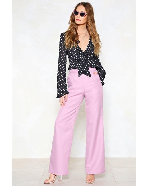 Nasty Gal - Purple Hitch A Wide Pants - Lyst