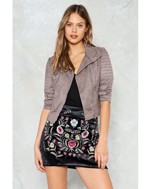 Nasty Gal - Multicolor Stitched Quilted Shoulder Moto Jacket Stitched Quilted Shoulder Moto Jacket - Lyst
