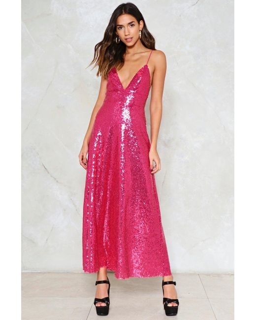 Nasty Gal | Pink Good Times Sequin Dress Good Times Sequin Dress | Lyst