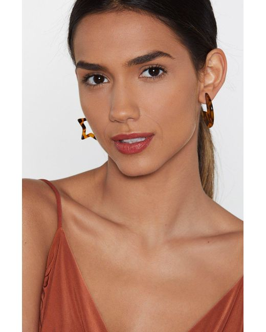 Nasty Gal - Brown Give Me Some Space Star Earrings - Lyst