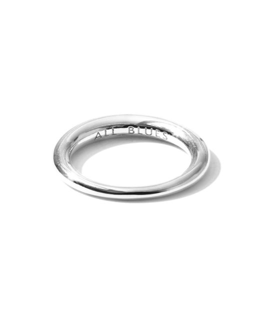 All_blues - Metallic Hungry Snake Ring Polished Silver - Lyst