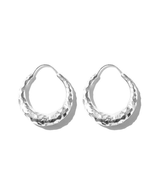 All_blues - Metallic Fat Snake Earring Carved Silver - Lyst