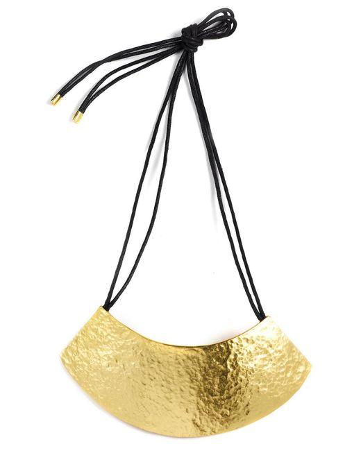 Natori - Metallic Gold Geo Necklace - Lyst