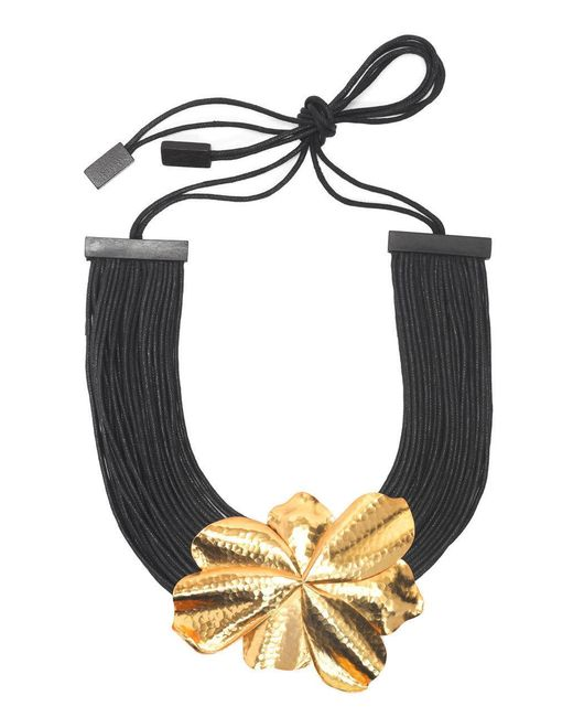 Natori | Metallic Josie Metal Floral Necklace | Lyst