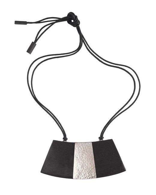 Natori   Black Wood Necklace   Lyst