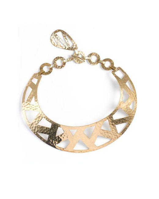 Natori - Metallic Josie Geometric Gold Necklace - Lyst