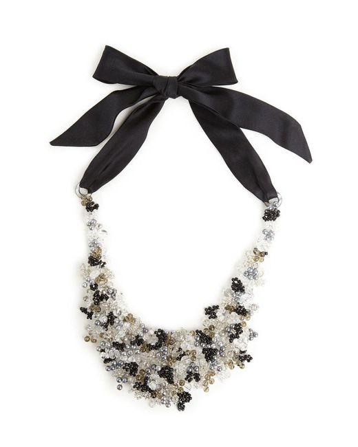Natori | Josie Beaded Bib Necklace - Black | Lyst