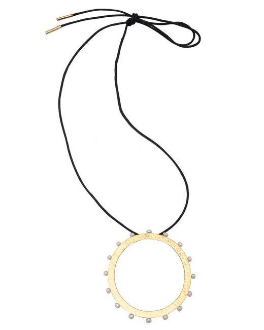 Natori - Metallic Josie Brass & Mother Of Pearl Necklace - Lyst