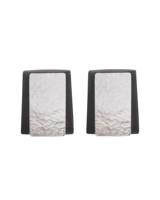 Natori | Gray Wood Earrings | Lyst