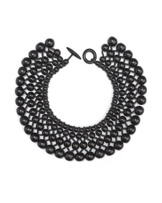 Natori - Black Josie Four Layer Beaded Necklace - Lyst