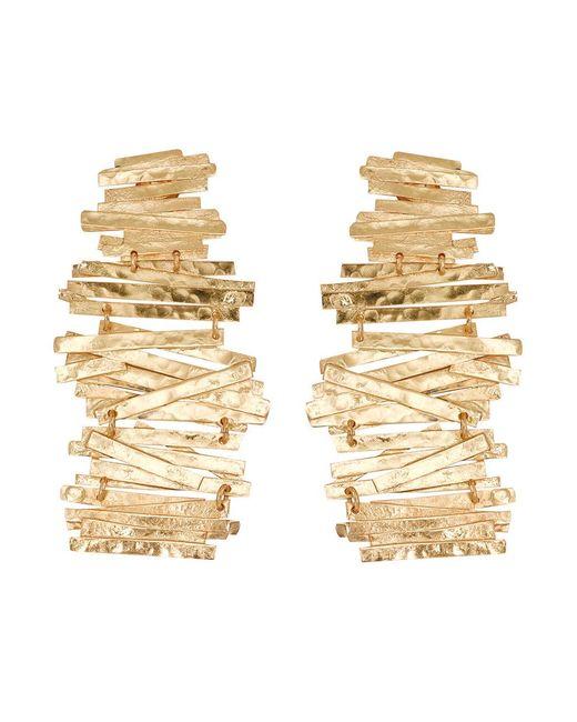 Natori | Metallic Hammered Metal Stacked Earrings | Lyst