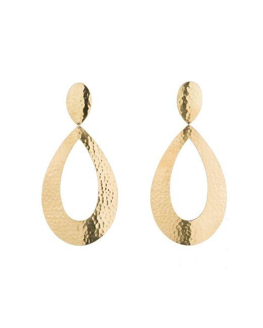Natori   Metallic Brushed Brass Earrings   Lyst