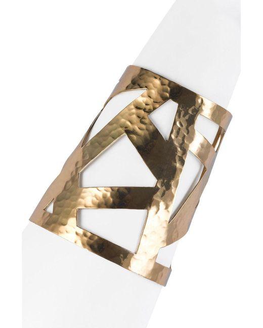 Natori | Metallic Josie Geometric Gold Cuff | Lyst