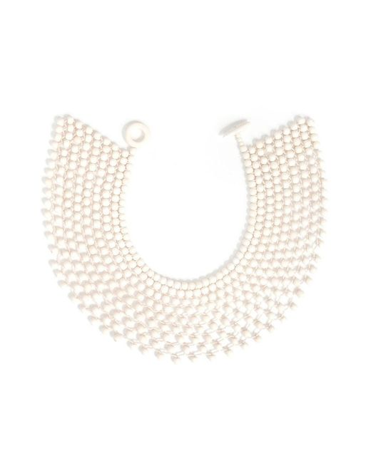 Natori | White Josie Bone Small Beaded Necklace | Lyst