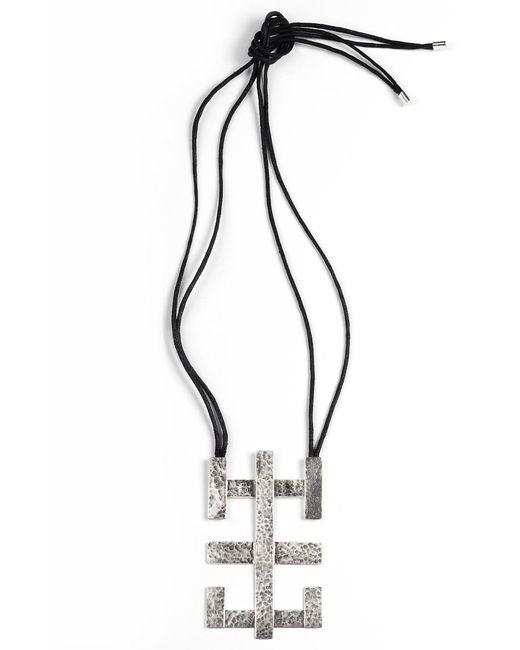 Natori | Metallic Silver Geo Geometric Necklace | Lyst