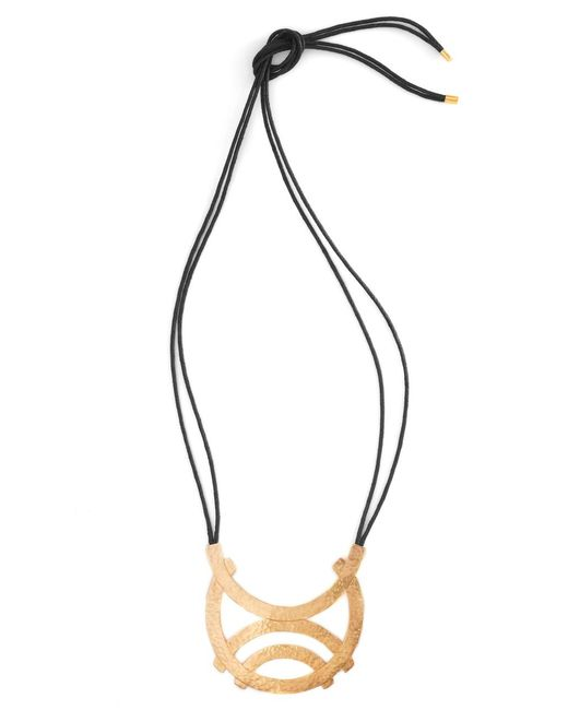 Natori | Metallic Gold Geo Horseshoe Necklace | Lyst