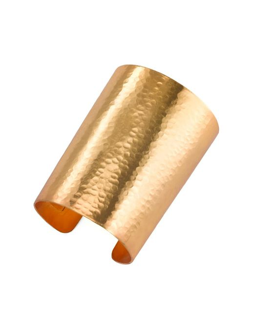 Natori | Metallic Hammered Gold Cuff | Lyst
