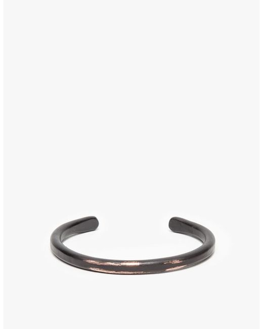 Cause and Effect | Thin Black Copper Bar Cuff for Men | Lyst