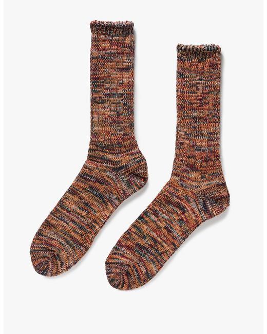 Anonymous Ism | Purple 5 Color Mix Crew Socks for Men | Lyst