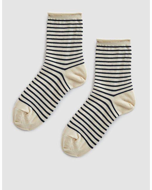 Hansel From Basel - Blue Nautical Stripe Crew Sock - Lyst