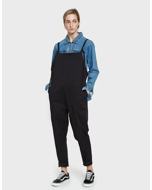f4cad6f06651 Lyst - Baserange Long Strap Overall in Black