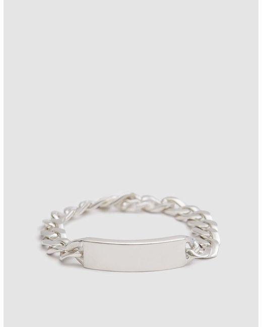 Maison Margiela - Metallic Silver Id Bracelet for Men - Lyst