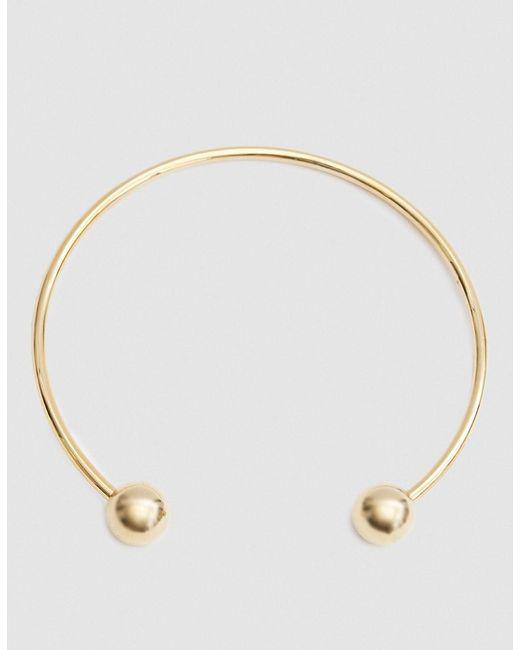 Maslo Jewelry | Metallic Sphere Collar In Gold | Lyst