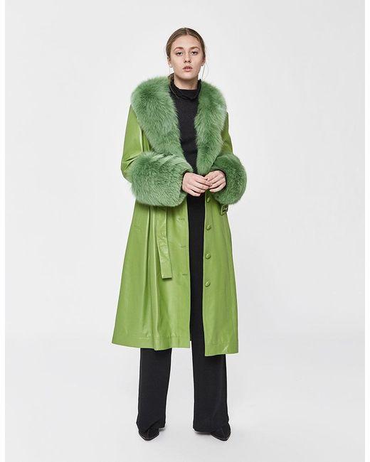 Saks Potts - Green Foxy Leather Coat - Lyst