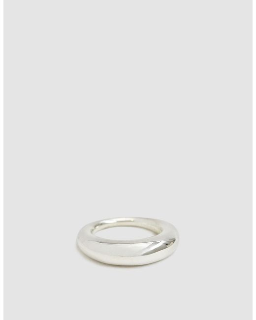 All_blues - Metallic Polished Fat Snake Ring - Lyst