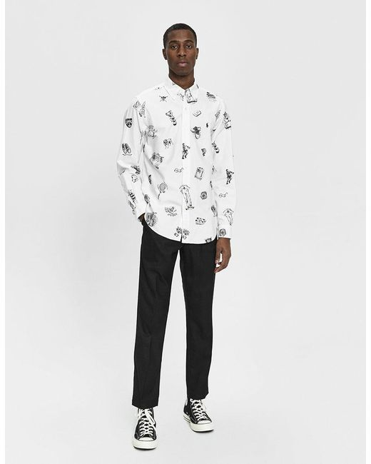 34173fe2c3dc ... Polo Ralph Lauren - White Preppy Icons Printed Button Down Shirt for  Men - Lyst ...