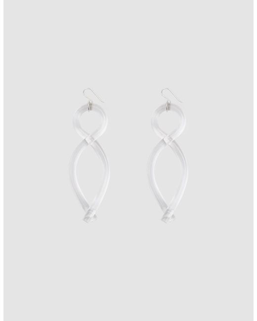 Corey Moranis - White Twist Earrings - Lyst