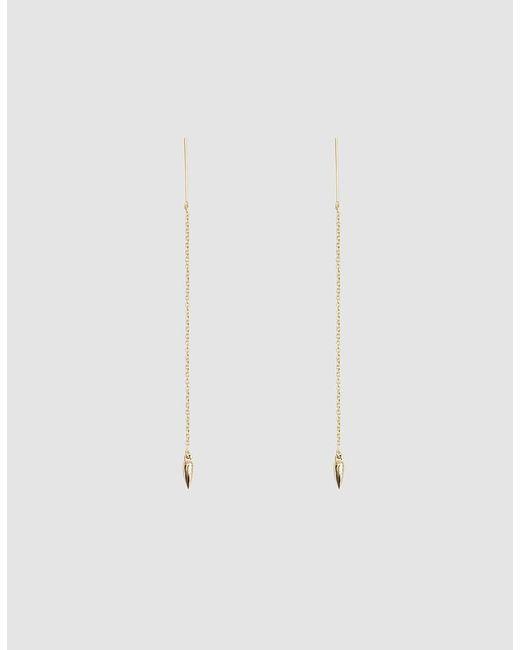 Pamela Love - Metallic Suspension Gold Thread Earrings - Lyst