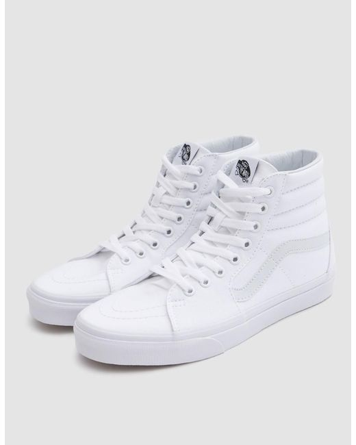 ... Vans - Sk8 Hi In True White for Men - Lyst ... 8fa4e4a06