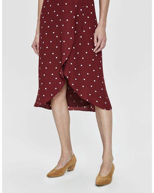 18ecfbebd1e ... Farrow - Red Elsa Polka-dot Wrap Dress - Lyst ...