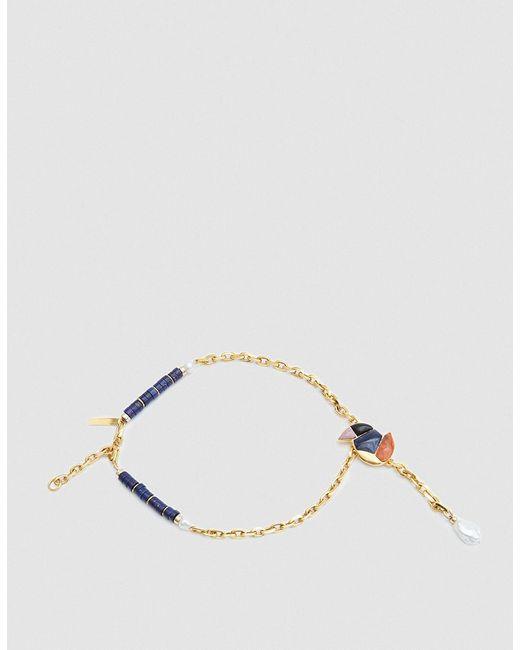 Lizzie Fortunato - Metallic Songbird Chain Lariat Necklace - Lyst
