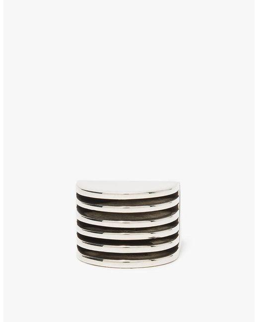 Agmes - Metallic Wide Silver Boeri Ring - Lyst