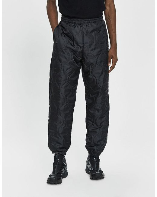 b9ca72e65a Stussy - Black Reversible Quilted Pant for Men - Lyst ...