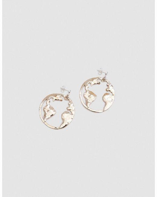 Open House   Metallic Earth Earrings In Bronze   Lyst