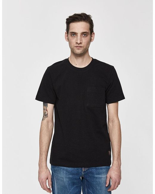5bd965a6 Nudie Jeans - Black S/s Kurt Worker Tee for Men - Lyst ...