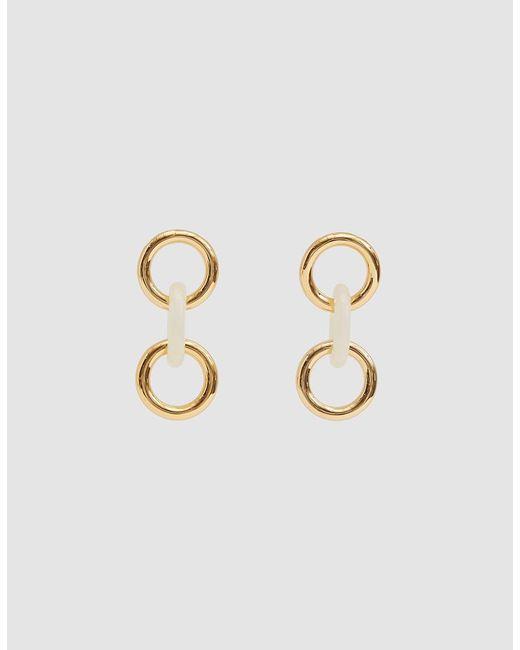Lizzie Fortunato - White Triplet Link Earrings - Lyst