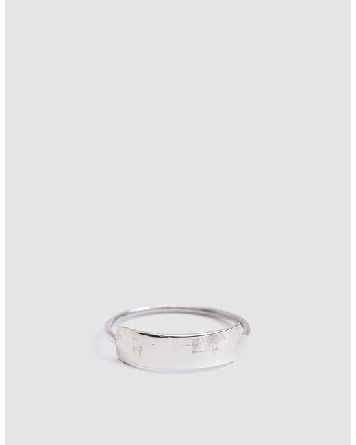 Loren Stewart - Metallic Sterling Silver Mini Id Ring - Lyst