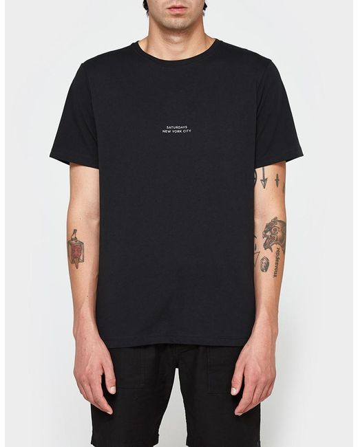 Saturdays NYC | Black Gotham Chest Tee for Men | Lyst