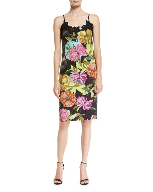 Trina Turk | Multicolor Dahlia Dell Sleeveless Floral-print Slip Dress | Lyst